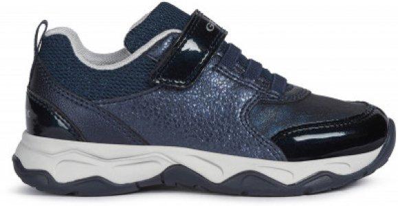 Кроссовки для девочек J Calco, размер 30 Geox. Цвет: синий