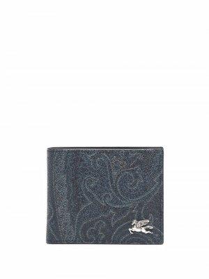 Бумажник с принтом пейсли ETRO. Цвет: синий
