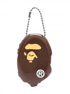 Клатч Ape Head A BATHING APE®. Цвет: коричневый