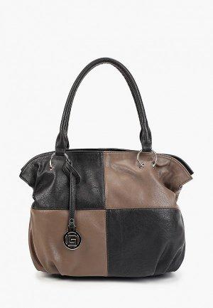 Комплект Gera сумка с брелоком. Цвет: черный