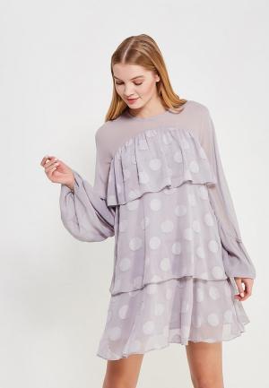 Платье LOST INK TIERED SPOT DRESS. Цвет: серый