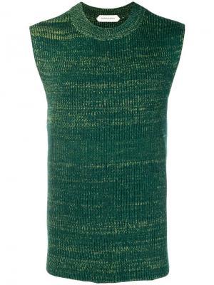 Трикотажный жилет Namacheko. Цвет: зеленый