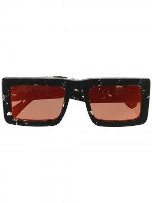 Солнцезащитные очки в прямоугольной оправе Marcelo Burlon County of Milan. Цвет: черный