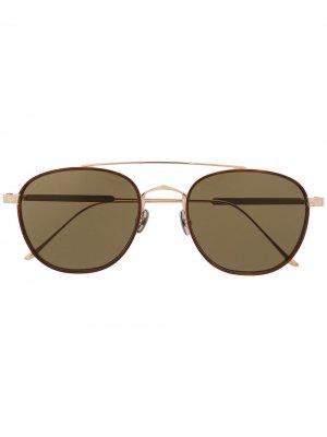 Солнцезащитные очки-авиаторы CT0251S Cartier Eyewear. Цвет: золотистый