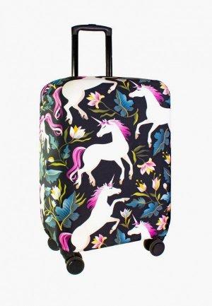 Чехол для чемодана Proffi travel. Цвет: черный