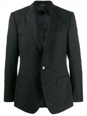 Блейзер с логотипом Dolce & Gabbana. Цвет: черный
