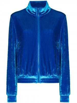 Спортивная куртка с вышитым логотипом Off-White. Цвет: синий
