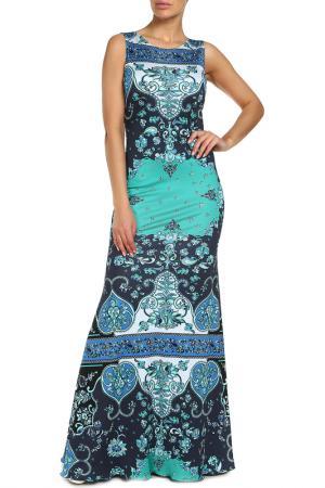 Платье Emilio Pucci. Цвет: зеленый, бежевый, синий