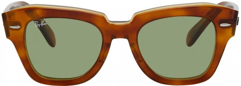 Tortoiseshell State Street Sunglasses Ray-Ban. Цвет: 12934e hava