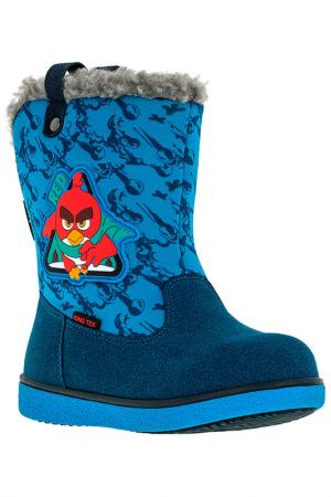 Сапожки Angry Birds. Цвет: голубой