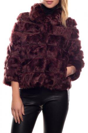 Меховая куртка Giorgio. Цвет: bordeaux