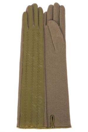 Перчатки Dali Exclusive. Цвет: оливковый, бежевый