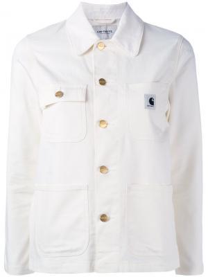 Джинсовая куртка Carhartt. Цвет: белый