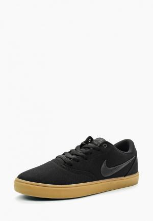 Кеды Nike Mens SB Check Solarsoft Canvas Skateboarding Shoe. Цвет: черный