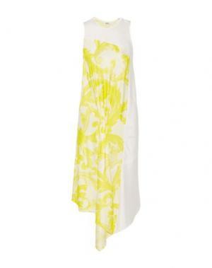 Платье до колена ISSA. Цвет: белый