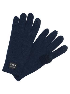 Перчатки Jack&Jones. Цвет: темно-синий