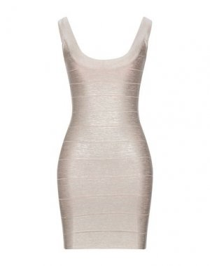 Короткое платье HERVÉ LÉGER. Цвет: телесный