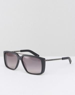 Солнцезащитные очки в квадратной оправе Karl Lagerfeld. Цвет: черный