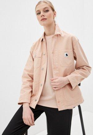 Куртка джинсовая Carhartt. Цвет: розовый