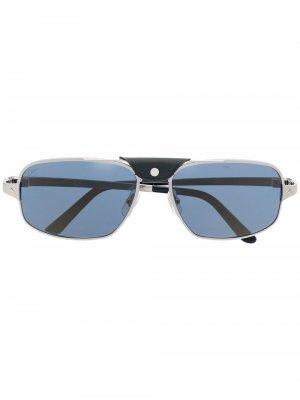Солнцезащитные очки-авиаторы CT0295S Cartier Eyewear. Цвет: серый