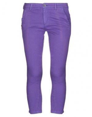 Брюки-капри 40WEFT. Цвет: фиолетовый
