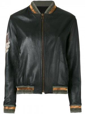 Куртка-бомбер с контрастными панелями Mr & Mrs Italy. Цвет: черный