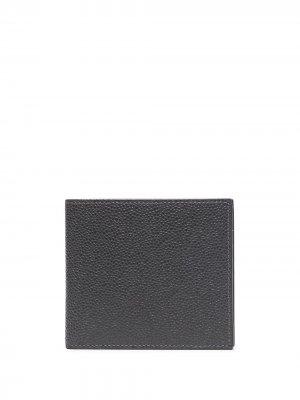 Бумажник из зернистой кожи Thom Browne. Цвет: серый