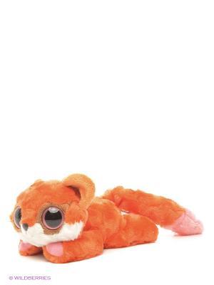 Юху и друзья Игрушка мягкая  Лисица красная лежачая 16 см AURORA. Цвет: коричневый