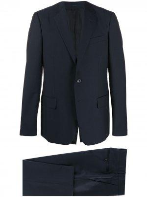 Костюм-двойка с однобортным пиджаком Gucci. Цвет: синий