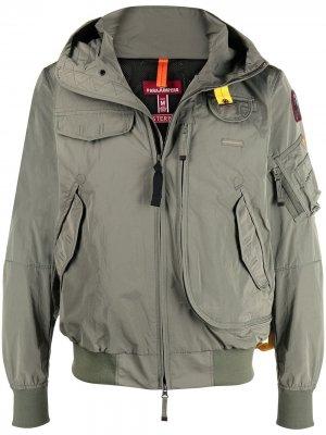 Куртка на молнии с капюшоном Parajumpers. Цвет: зеленый