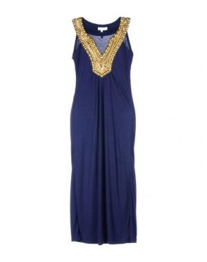 Длинное платье ELIZABETH HURLEY. Цвет: темно-синий