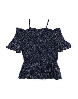 Блузка LITTLE REMIX. Цвет: темно-синий