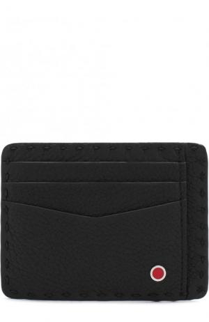 Кожаный футляр для кредитных карт Kiton. Цвет: черный