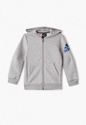 Толстовка adidas YB MH BOS FZ FL. Цвет: серый