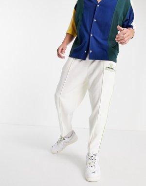 Кремовые махровые джоггеры в стиле oversized с вышивкой от комплекта -Светло-бежевый цвет ASOS DESIGN