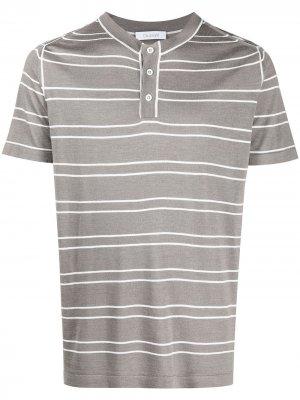 Полосатая футболка с круглым вырезом Cruciani. Цвет: нейтральные цвета