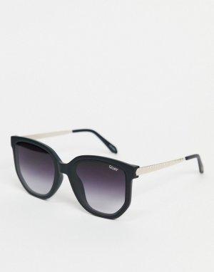 Черные солнцезащитные очки в круглой оправе стиле унисекс Quay Coffee Run-Черный цвет Australia