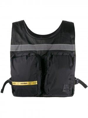 Жилет-сумка из коллаборации с Neighborhood Eastpak. Цвет: черный