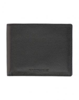 Бумажник EMPORIO ARMANI. Цвет: черный
