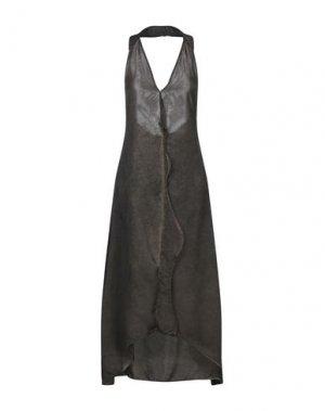 Длинное платье 10SEI0OTTO. Цвет: темно-коричневый