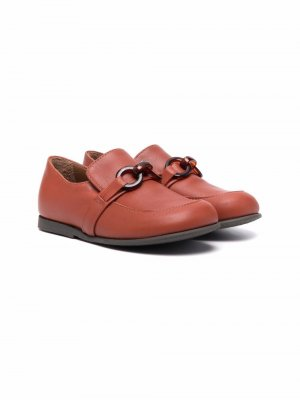 Туфли с пряжкой Pèpè. Цвет: коричневый