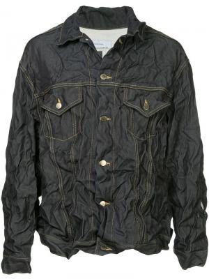 Джинсовая куртка x Woolmark Facetasm. Цвет: синий