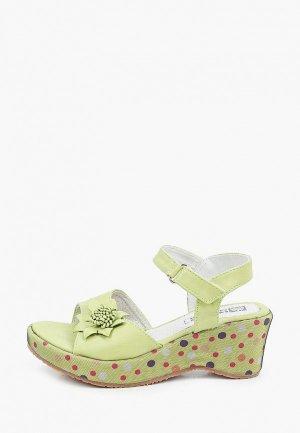 Босоножки King Boots. Цвет: зеленый