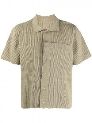 Трикотажная рубашка поло Jacquemus. Цвет: зеленый