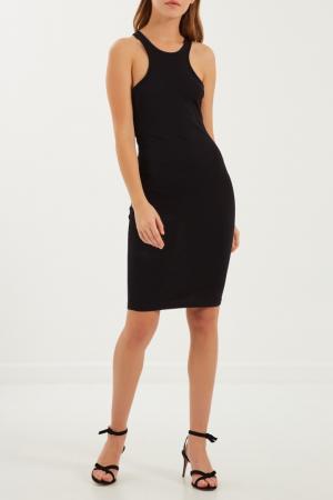 Черное платье-майка Givenchy. Цвет: черный