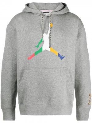 Толстовка Jordan Sport DNA с капюшоном Nike. Цвет: серый