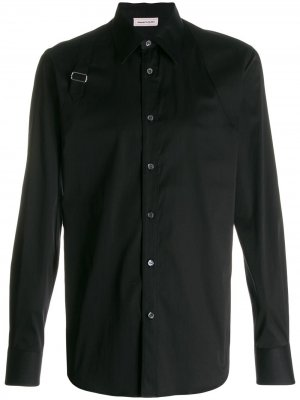 Рубашка с эффектом подтяжек Alexander McQueen. Цвет: черный