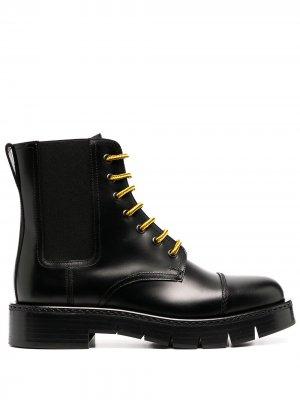 Ботинки челси со шнуровкой Salvatore Ferragamo. Цвет: черный