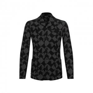 Пиджак из кашемира и вискозы Giorgio Armani. Цвет: чёрный