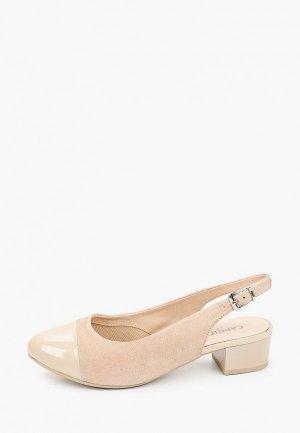 Туфли Caprice полнота H (8). Цвет: бежевый